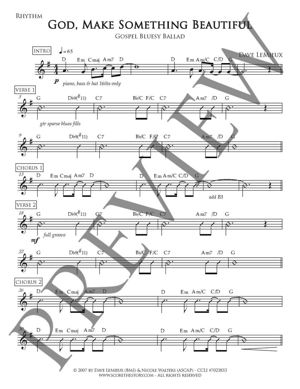 Rhythm Chart preview
