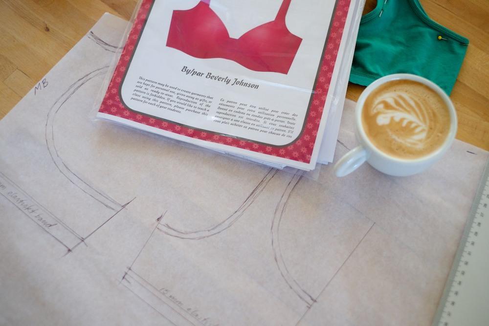 mönster på gång och en ny bh-modell till kaffet
