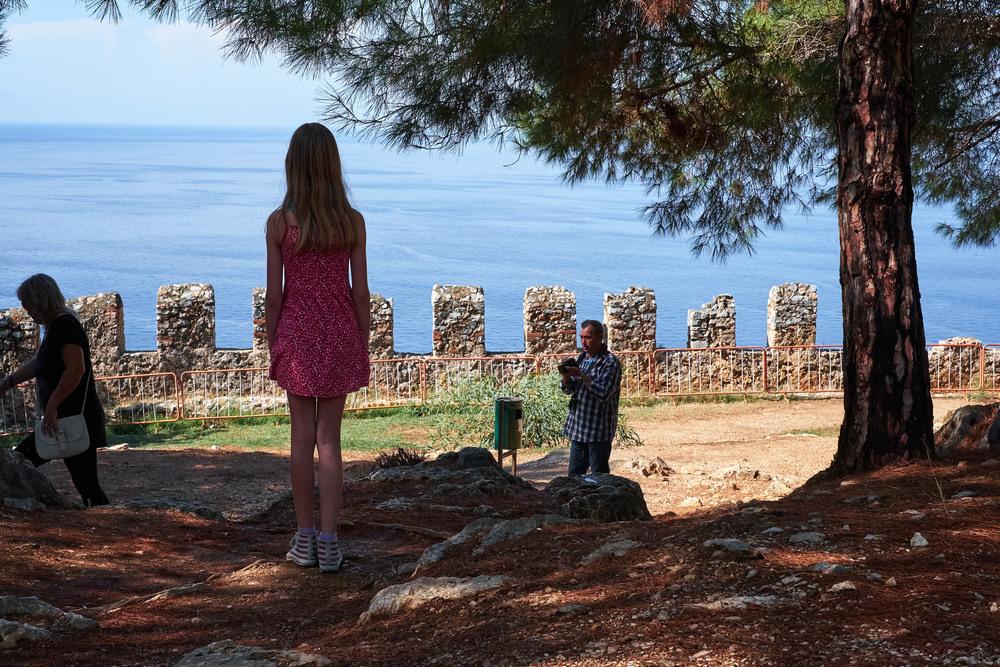 Vacker utsikt vid Alanya castle