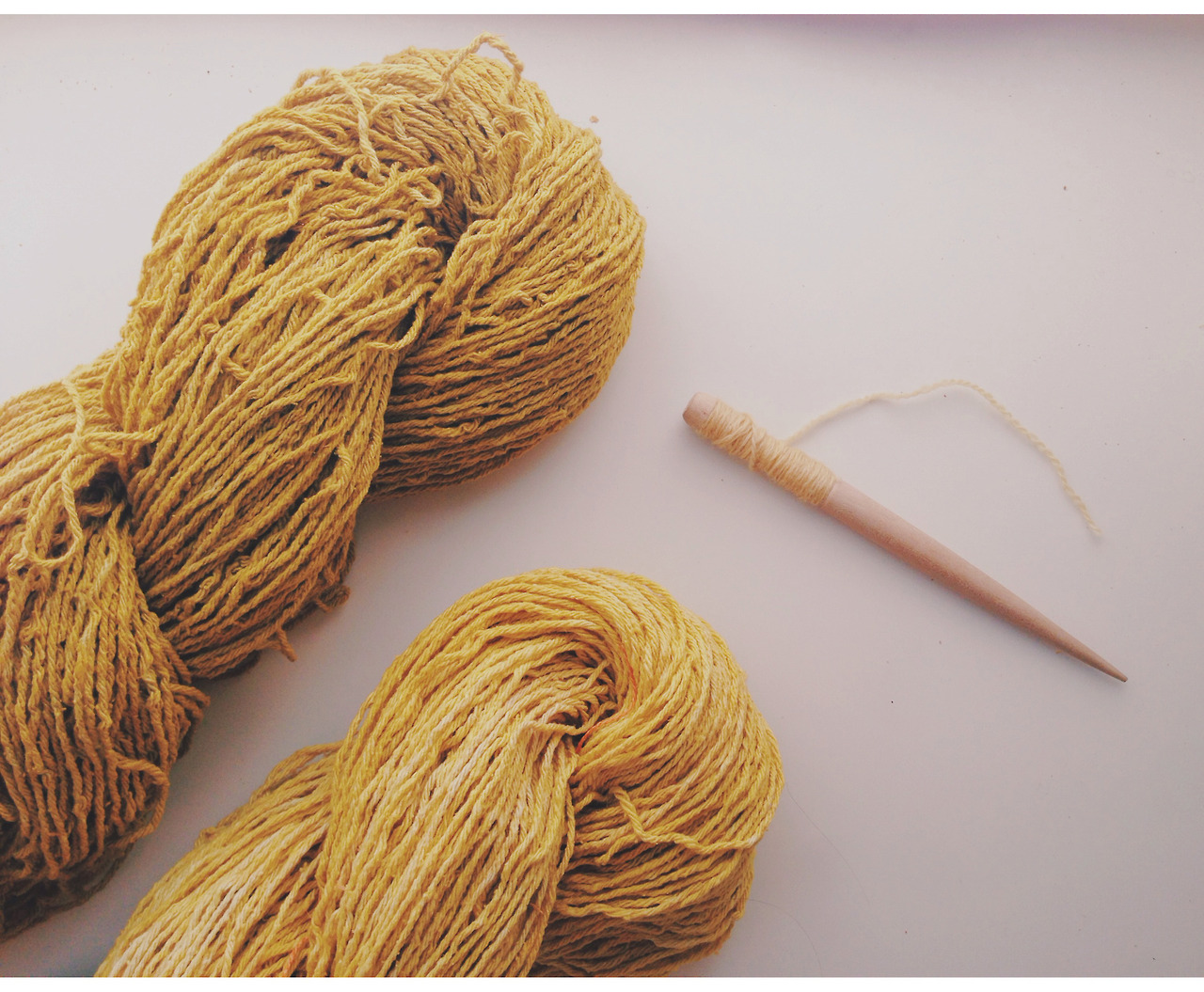 the golden hour - hand dyed osage silk skeins