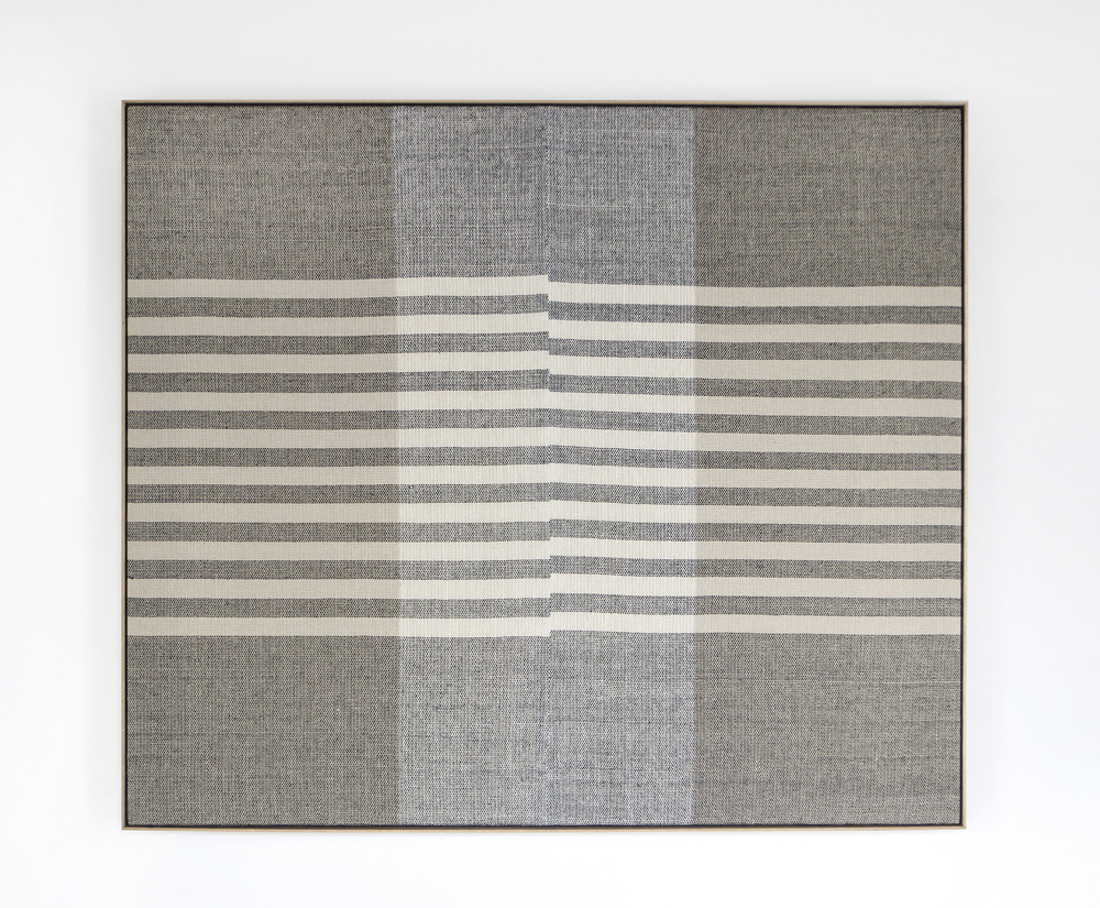 Rachel DuVall, Untitled, 2016, linen, silk, natural dyes , 47.5 x 55.5 x 2.5 inches