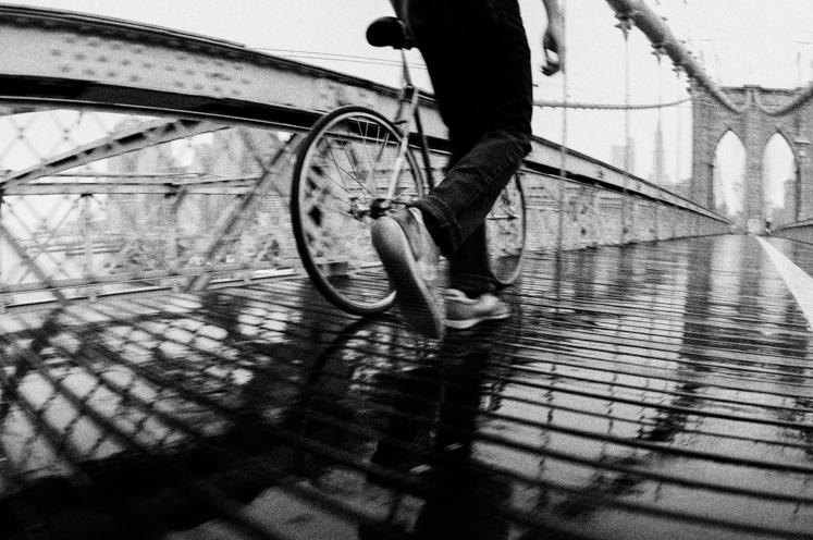 Brooklyn Bridge Biker