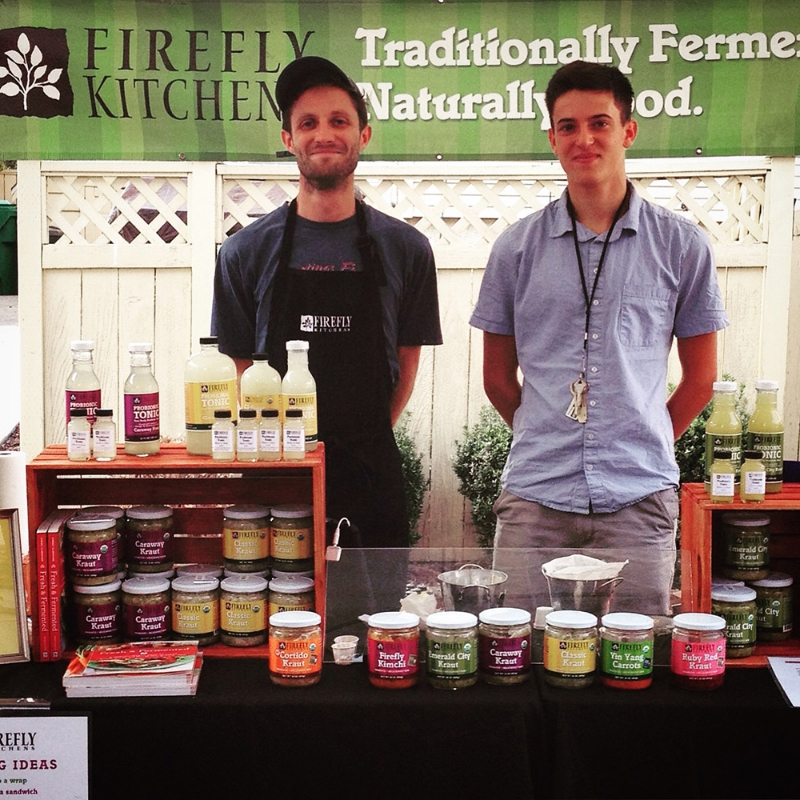 Two of the crew at the 2015 Queen Anne Farmers Market.