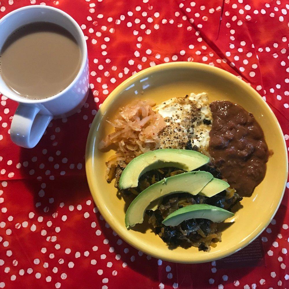 Linnea's breakfast, starring Firefly Kimchi!