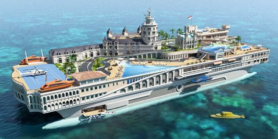 It appears the mega rich are becoming more comfortable parking or anchoring their money offshore...literally