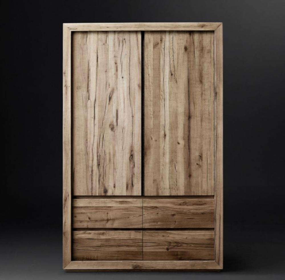 Reclaimed Russian Oak Armoire $4395