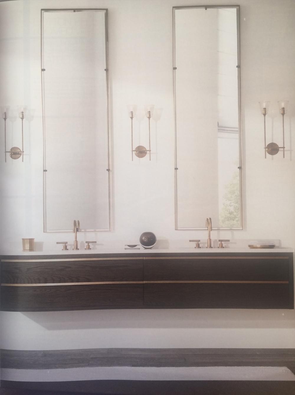 Bezier Floating Dual Vanity Sink