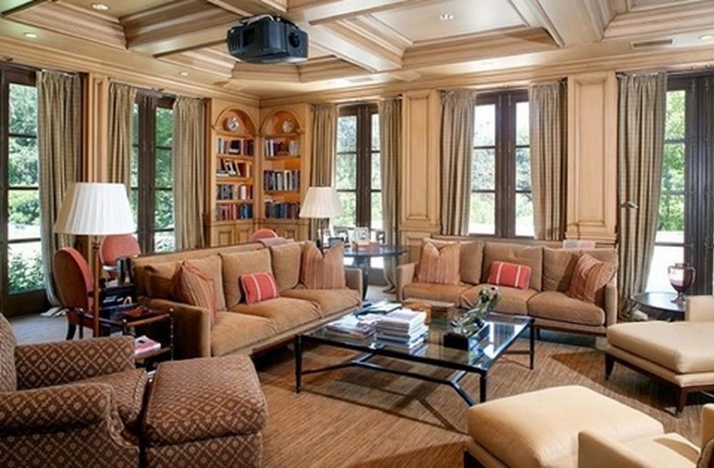Family room at Jay-Z and Beyonce's new LA home.