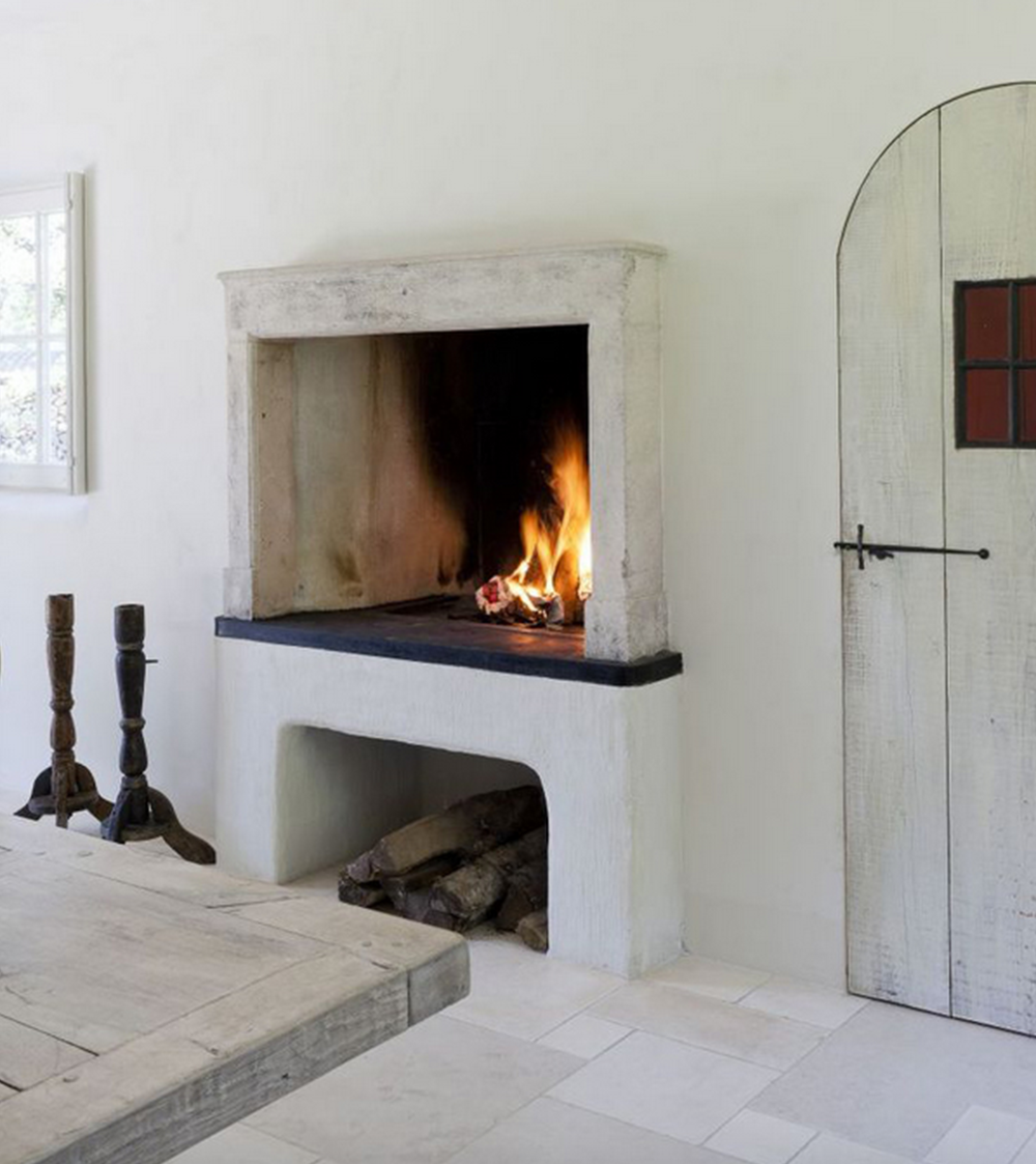 This fireplace is perfect for the Hollywood bungalow that wants to create a focal point in the room.