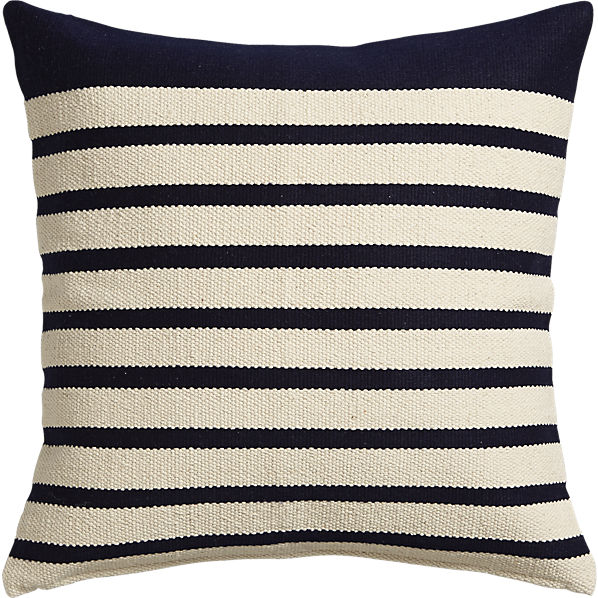 CB2's Division pillow in Navy looks great in a classically styled living room.