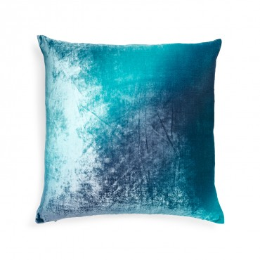 If the Winter Blues are more of your hue, Kevin O'Brien's Ombre Gradient Velvet pillow is another great choice that will give your living room an artsy look.
