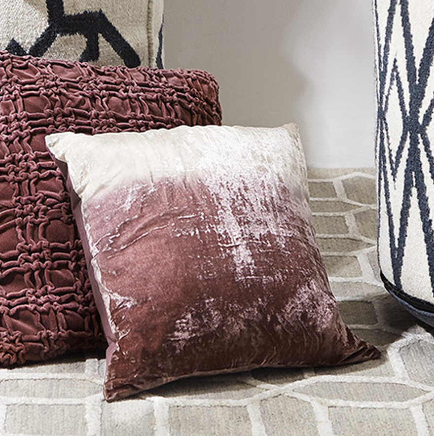 Arhaus' Frost square pillow not only looks luxurious it feels divine.