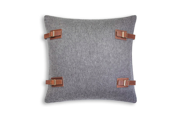 Ugg's Luxe Lodge pillow in granite perfect for a mountain escape or downtown loft.