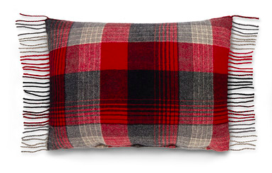 For a fringed plaid pillow, opt for Ralph Lauren Home's Humboldt Multi-Cushion pillow.