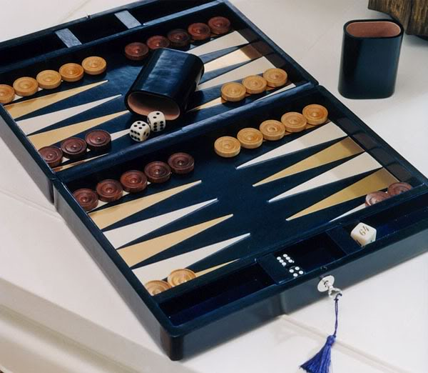 "Le Grande Hotel's backgammon board with a tassle-d key feel so chic yet so appropriate for any trust fund ""cool kid"".  It has that great vintage look."
