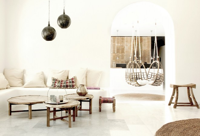 All living rooms should be as stylish as this modern Boheme one with neutral tones and rustic feel.
