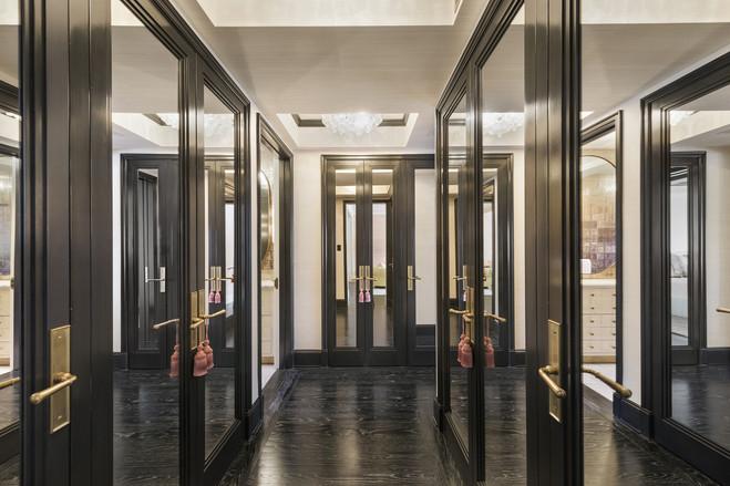 Cameron Diaz's dressing room (ahem closet) in her West Village apartment is huge.