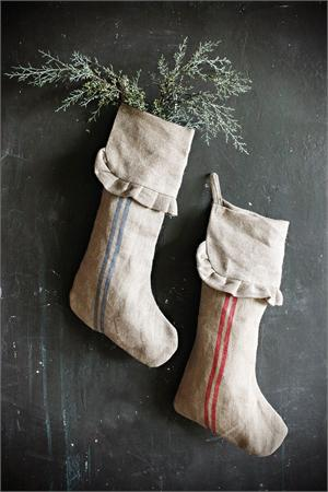 Pick up stockings in earthy, neutral colors like this French country pair.