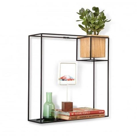This cubist shelf gives the home a stylish focal point.