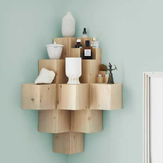 This modular cube shelf is a DIY'ers dream.  It's easy to cut and glue together with wood glue.