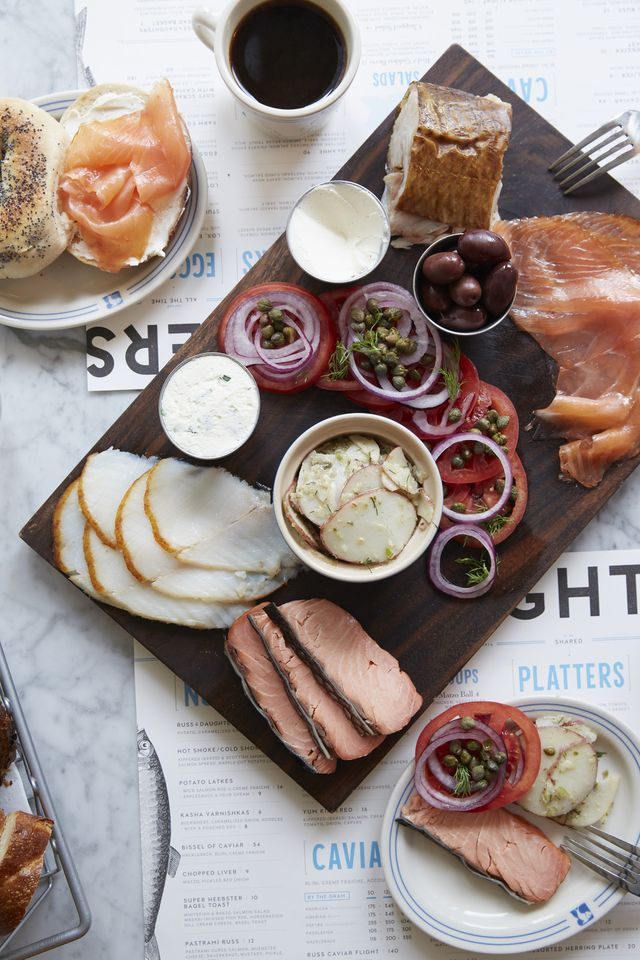 Russ & Daughters is famous for their spreads.  From smoked salmon to blintzes, you can't go wrong.