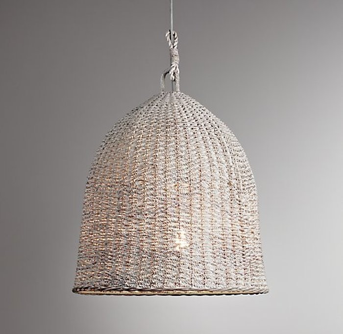 Seagrass Market pendant from Restoration Hardware