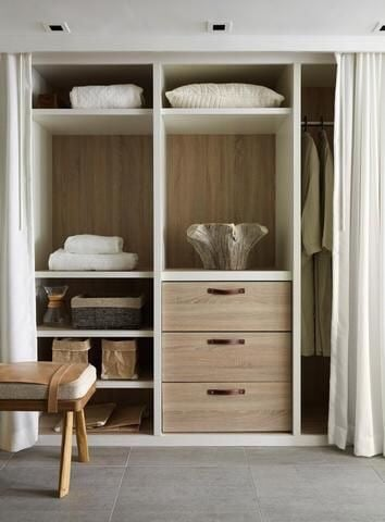 The closet organizer at this eco-hotel is to die for!  It's easily something one would find at Restoration Hardware or Pottery Barn.  1 Hotel South Beach really makes every detail count!