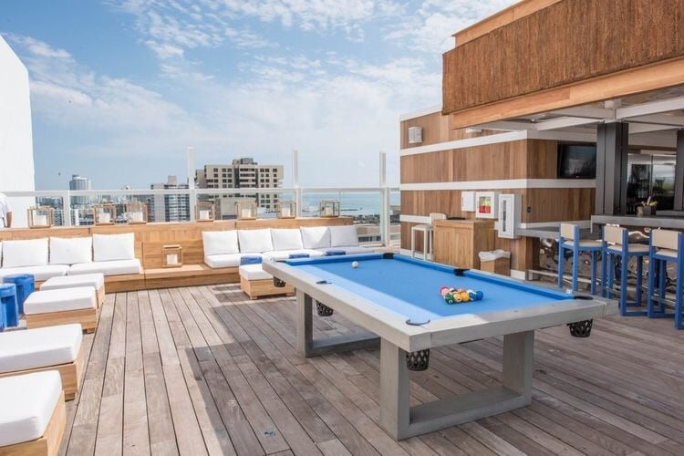 For those looking to add a little fun in the sun in Miami, the outdoor billiards table and pool bar at 1 Hotel South Beach will surely please.