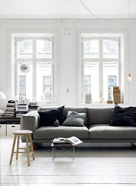 There's a stark beauty and power that lies in a minimalist designed pre-war apartment.