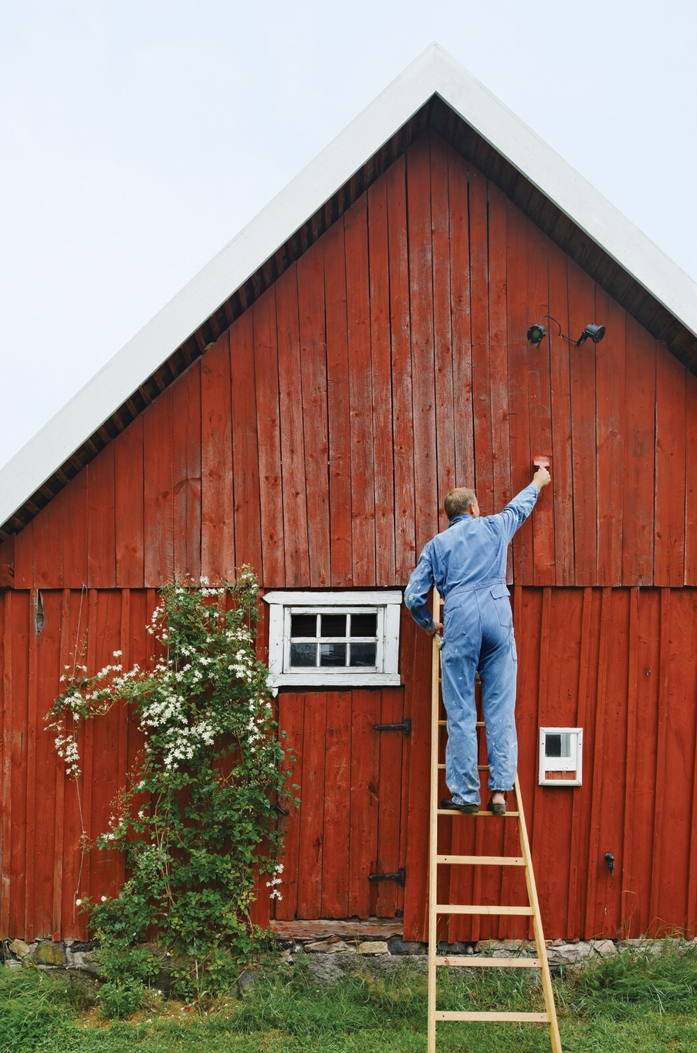 Painting the exterior of the farmhouse is no easy task, but boy is it worth it!