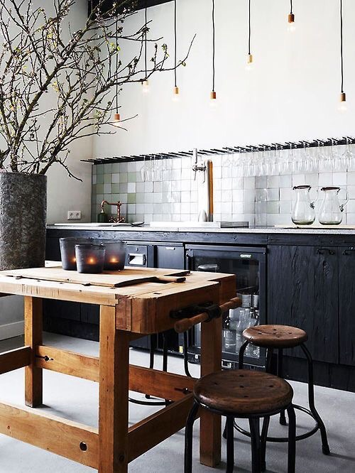 It's hard not to love kitchens that take design risks, especially Moroccan Zellige tiles.  Pays off every time!