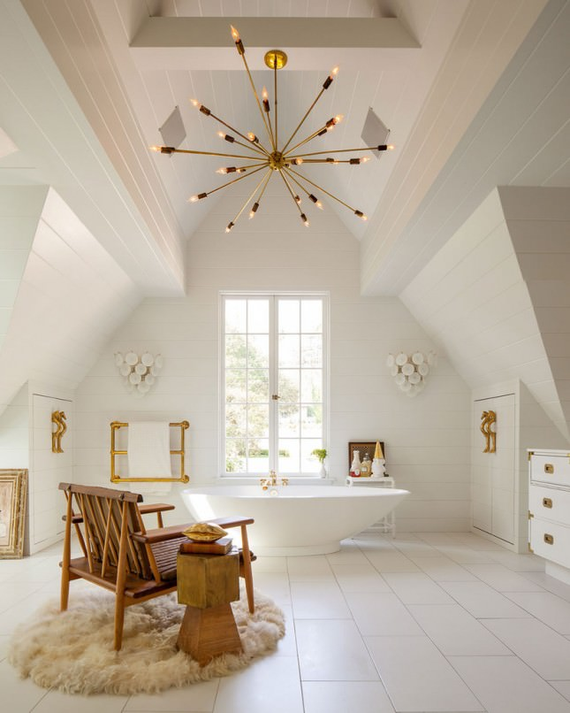 white and gold bathroom sheepskin