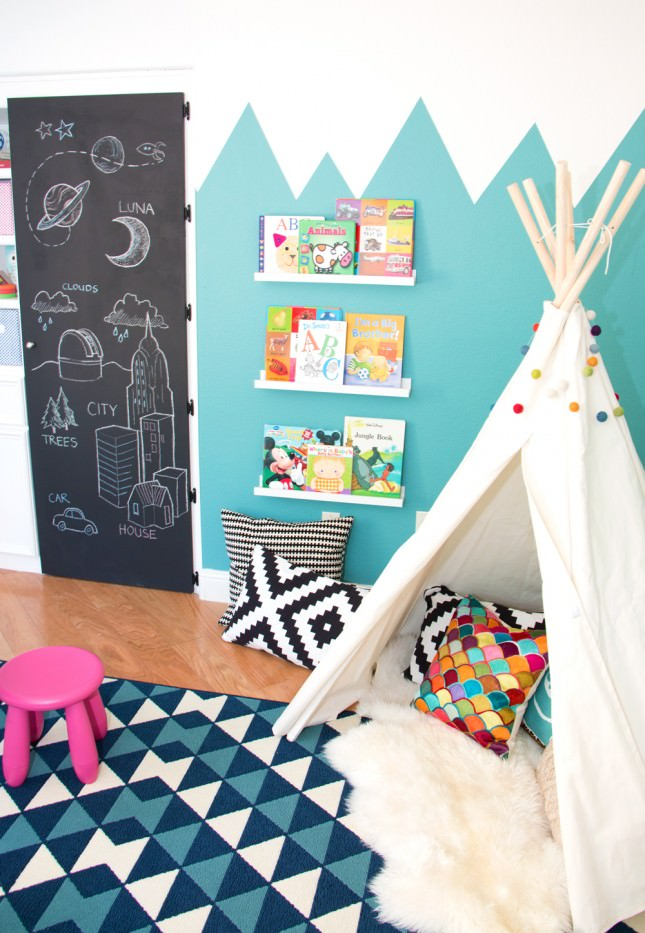 kids teepee sheepskin
