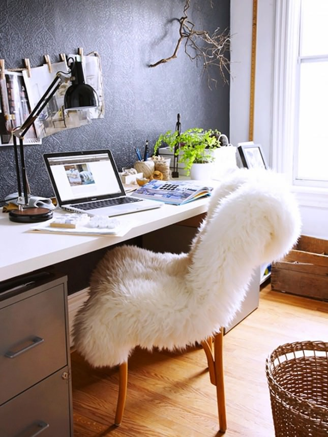 office chair sheepskin