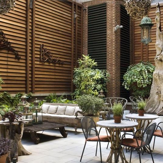 crosby street hotel courtyard