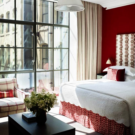 crosby street hotel red guest room