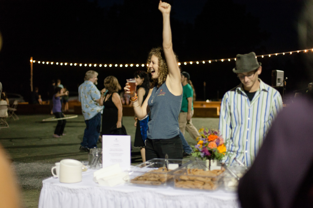 Obviously, I'm pretty pumped about pumping out thousands of s'mores for our opening party in 2014, where we welcomed nearly 500 people - guests and community members alike! However, this was one of the early batches and they were terribly melty and drippy when roasted. Photo by Allison Usavage