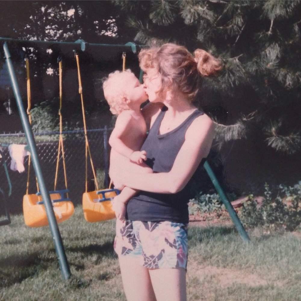 Me and my mamma, circa 1986.