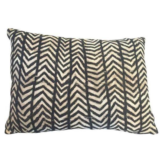 African Grey Tie Dye Mud Cloth Pillows