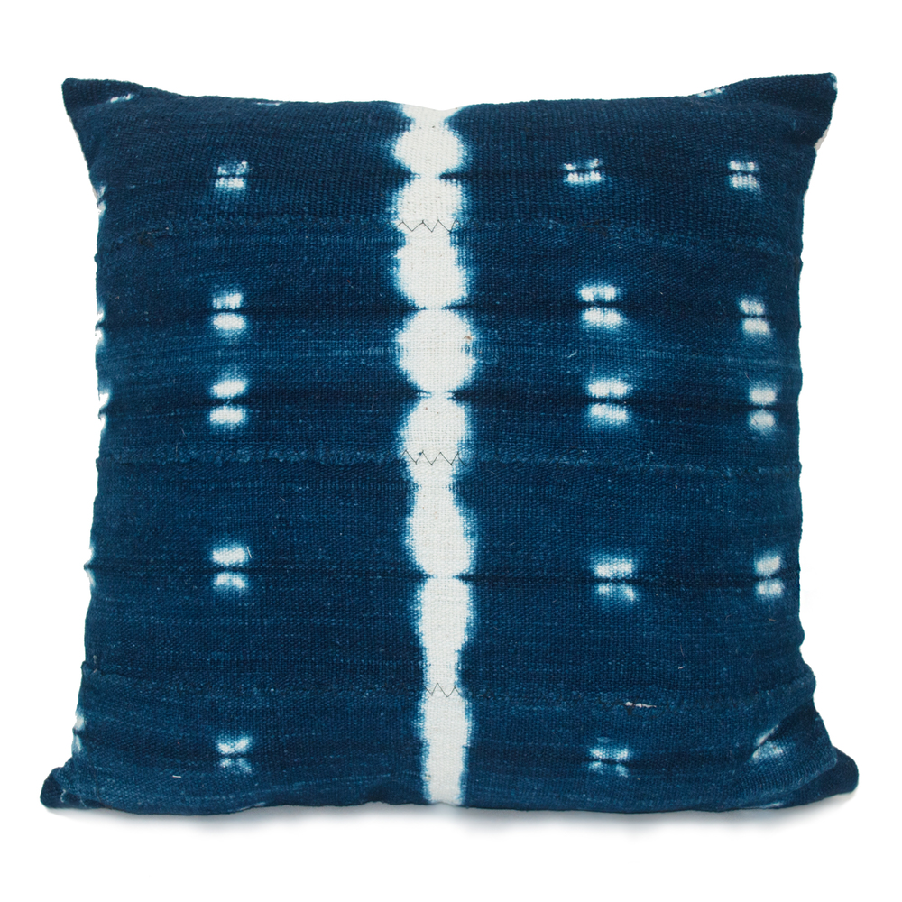 Mud Cloth Pillow - Indigo