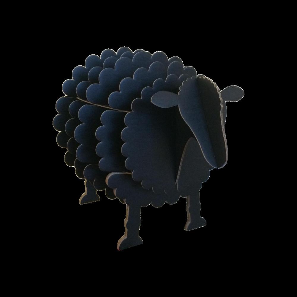 Black Cardboard Sheep Storage Shelf