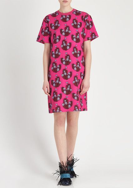 Cactus All Over Print T-Shirt Dress