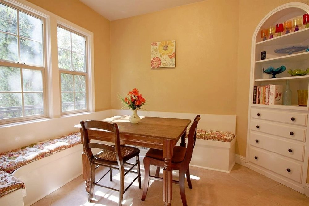 Existing photo of the breakfast nook - love those built-ins!