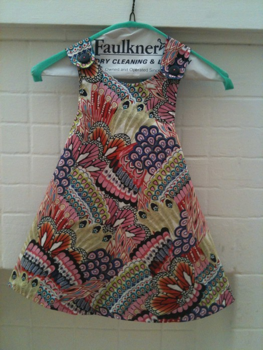 Favorite Things Blossoms and Bloomers Dress Pattern in Alexander Henry Fullham Road Como Multi