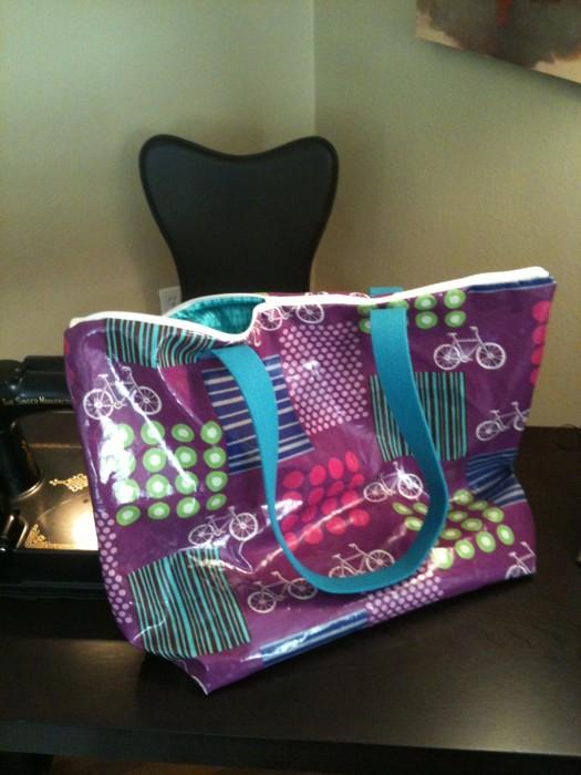Echino Oilcloth Tote Bag