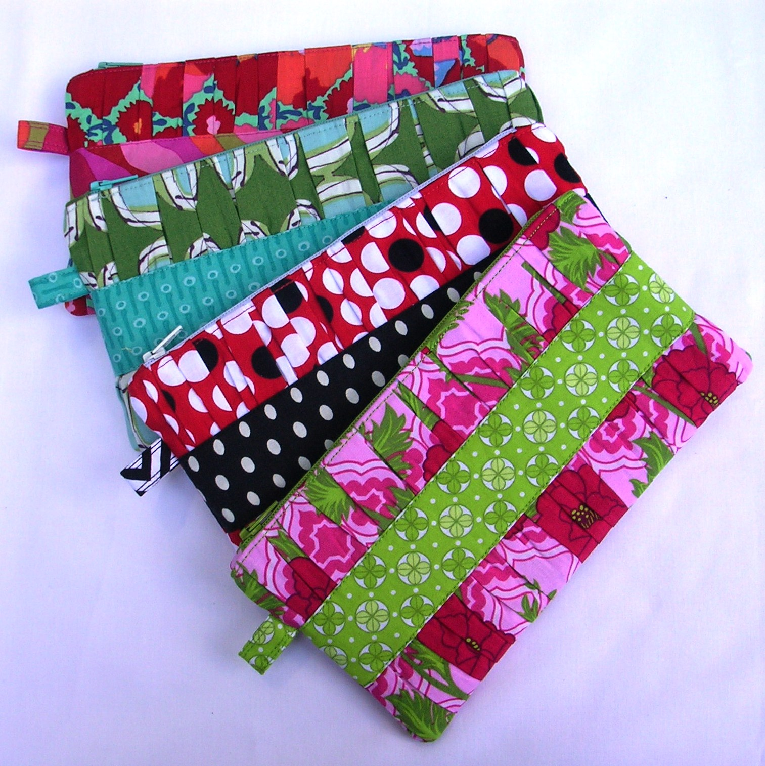 Gathered Clutches in Various Prints