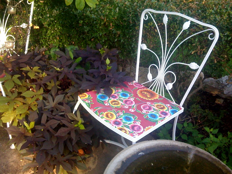Blooms Magenta Oilcloth