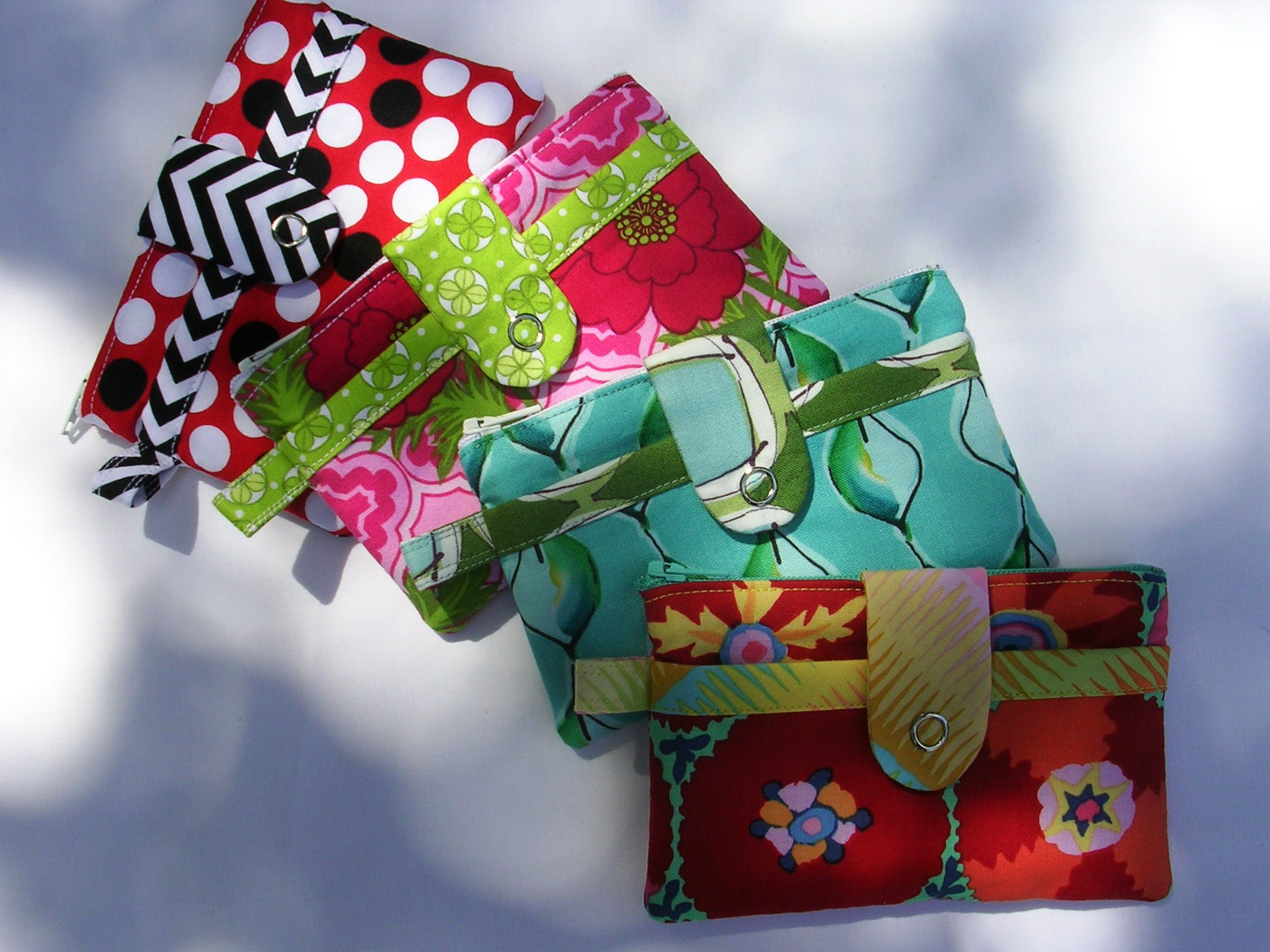 Adorable Zippered Wallets in Various Prints
