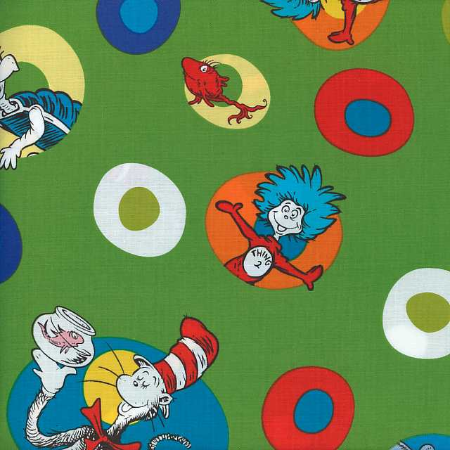 Dr Seuss Fabric for Robert Kaufman