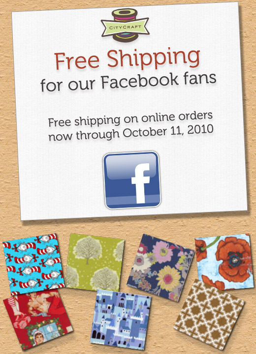 Free Shipping for Facebook Fans